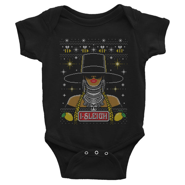 """Bey-Sleigh"" Ugly Xmas Sweater Unisex Infant Onesie"