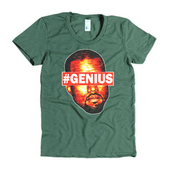 "Kanye West Pablo ""#Genius"" Women's Forest Green T-Shirt by Luke&Lynn"