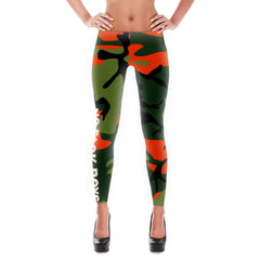 """No F*ck Boys"" Orange Camouflage Leggings"