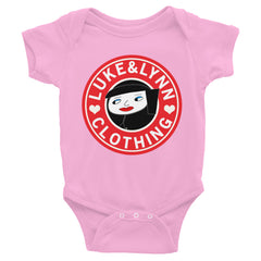 """Lynnbucks"" Pink Short-Sleeve Infant Onesie by Luke&Lynn Clothing www.lukeandlynn.com"