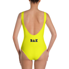 """Bey-University"" Yellow One-Piece Swimsuit/Bodysuit"