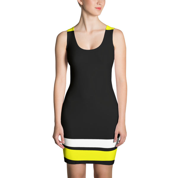 Black w/Yellow Spandex Dress