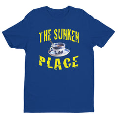 """The Sunken Place"" Men's Royal Blue T-Shirt by Luke&Lynn Clothing"
