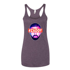 "Drizzy ""Zaddy"" Women's Plum Racerback Tank Top by Luke&Lynn Clothing (Inspired by OVO Drake)"