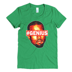 "Kanye West Pablo ""#Genius"" Women's Green T-Shirt by Luke&Lynn"