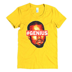 "Kanye West Pablo ""#Genius"" Women's Gold T-Shirt by Luke&Lynn Clothing"