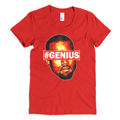 "Kanye West Pablo ""#Genius"" Women's Red T-Shirt by Luke&Lynn Clothing"