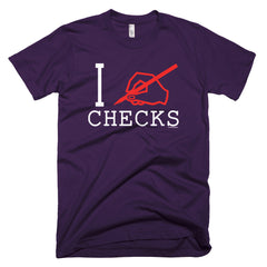 """I Write Checks"" Men's T-Shirt (Dark Colors)"