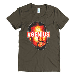 "Kanye West Pablo ""#Genius"" Women's Brown T-Shirt by Luke&Lynn Clothing"