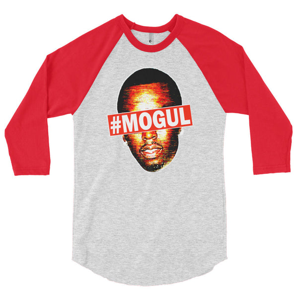 """#Mogul"" Unisex (Men/Women) 3/4 Sleeve Raglan Baseball Shirt"