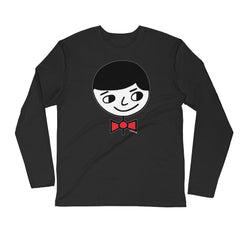 "Luke ""Perfect Gentleman"" Men's Black Long Sleeve Fitted Shirt"