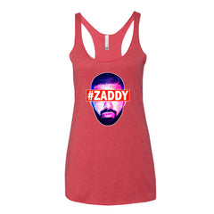 "Drizzy ""Zaddy"" Women's Red Racerback Tank Top by Luke&Lynn Clothing (Inspired by OVO Drake)"