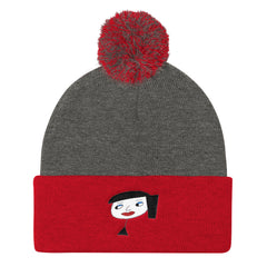 """Lynn Beauty-Face"" Pom Pom Knit Cap by Luke&Lynn Clothing"