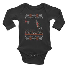 "Retro Jordan Baby-Size ""1988 Jordan Dunk Contest Ugly Sweater"" Unisex Infant Long Sleeve Onesie by Luke&Lynn Clothing, ugliest christmas sweaters, ugly christmas jumpers, ugly christmas sweater, ugly christmas sweater cheap, ugly christmas sweater for women, ugly christmas sweater party, ugly christmas sweaters for men, ugly christmas sweaters for sale, ugly holiday sweaters, ugly mens christmas sweaters, ugly sweater, ugly sweater obj, ugly sweater party, ugly xmas sweater, ugly xmas sweaters,"