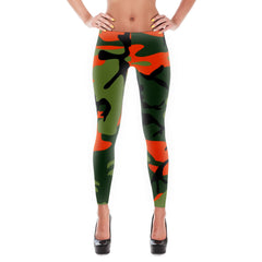 Orange Camouflage Leggings (No Words)