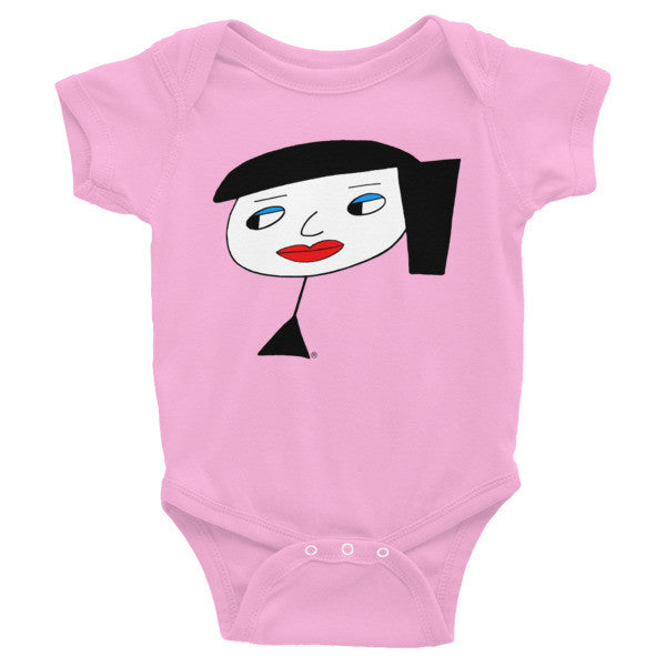 """Lynn Beauty-Face"" Infant Short Sleeve Onesie"