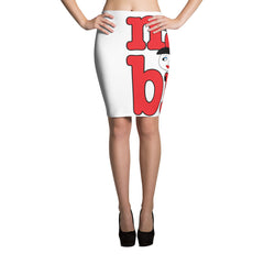 "Lynn ""Nah, Bih."" White Pencil Skirt by Luke&Lynn Clothing"