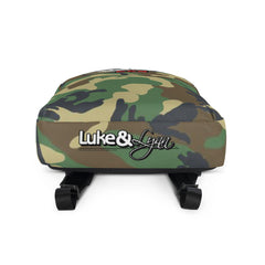 """Luke Perfect Gentleman"" Green Camouflage Backpack by Luke&Lynn Clothing www.lukeandlynn.com"