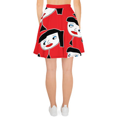 "Lynn ""Beauty-Face"" Red Skater Skirt"