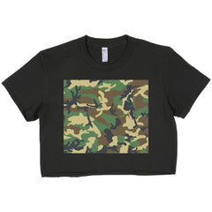 Green Camouflage Crop Top by Luke&Lynn Clothing