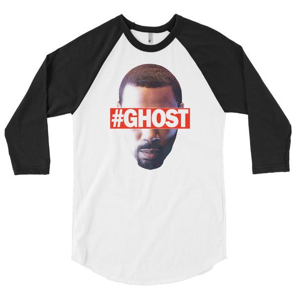 """Free Ghost"" Unisex (Men/Women) 3/4 Sleeve Baseball Shirt"