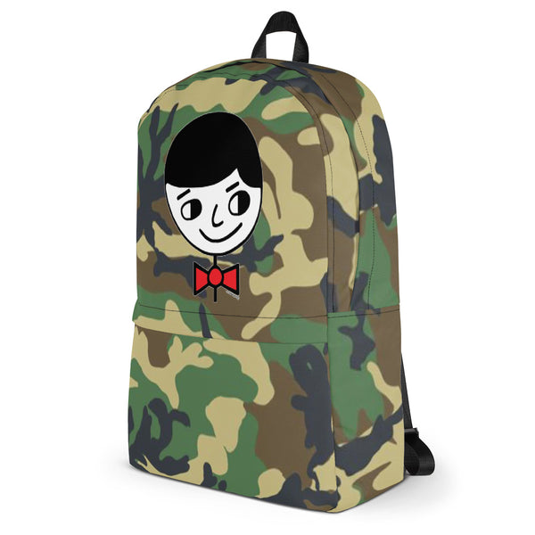 """Luke Perfect Gentleman"" Green Camouflage Backpack"