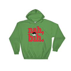 "Luke ""Nah, Bih."" Green Unisex Hoodie (Men/Women) by Luke&Lynn Clothing #LukeandLynn"