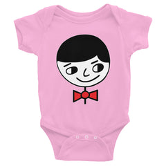 """Luke Perfect Gentleman"" Pink Infant Short Sleeve Onesie by Luke&Lynn Clothing www.lukeandlynn.com"