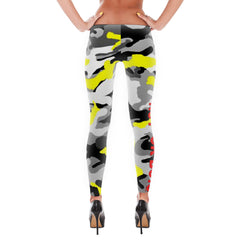 """No F*ck Boys"" Yellow Camouflage Leggings"