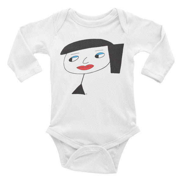 """Lynn Beauty-Face"" Infant Long Sleeve Onesie"