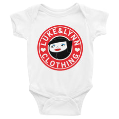 """Lynnbucks"" White Short-Sleeve Infant Onesie by Luke&Lynn Clothing www.lukeandlynn.com"