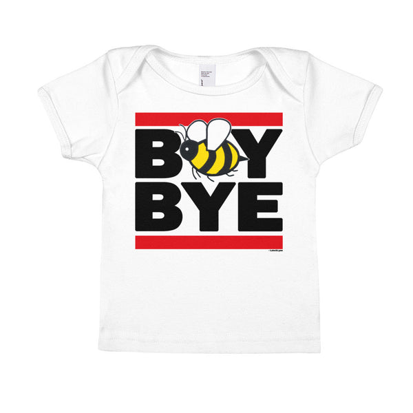 """Boy Bye"" Bee Infant Short Sleeve Tee (White)"