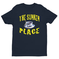 """The Sunken Place"" Men's Navy Blue T-Shirt by Luke&Lynn Clothing"