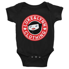 """Lynnbucks"" Black Short-Sleeve Infant Onesie by Luke&Lynn Clothing www.lukeandlynn.com"