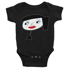 """Lynn Beauty-Face"" Black Infant Short Sleeve Onesie by Luke&Lynn Clothing www.lukeandlynn.com"
