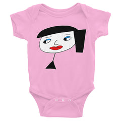"""Lynn Beauty-Face"" Pink Infant Short Sleeve Onesie by Luke&Lynn Clothing www.lukeandlynn.com"