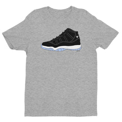 """Luke Retro 11"" Men's Grey T-Shirt by Luke&Lynn Clothing"
