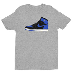 """Luke Retro One OG Royal Blue"" Men's Grey T-Shirt by Luke&Lynn Clothing"