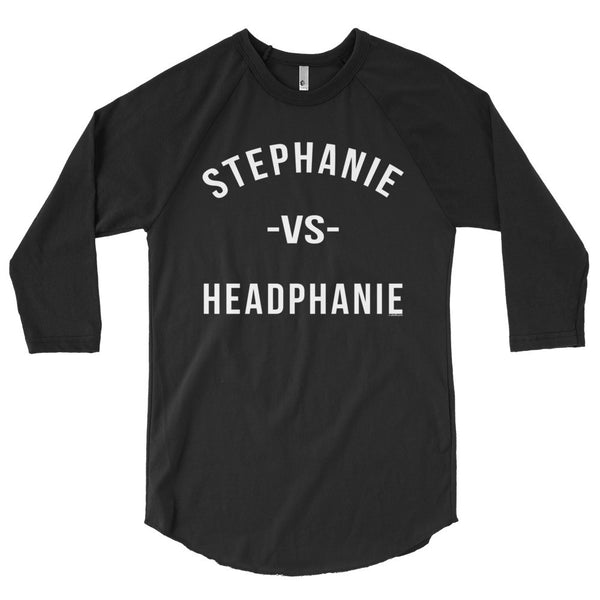 """Stephanie vs Headphanie"" Unisex (Men/Women) 3/4 Sleeve Baseball Shirt"