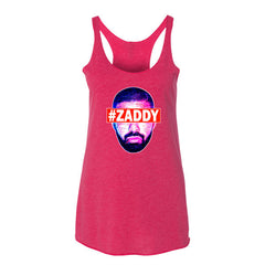 "Drizzy ""Zaddy"" Women's Fucshia Racerback Tank Top by Luke&Lynn Clothing (Inspired by OVO Drake)"