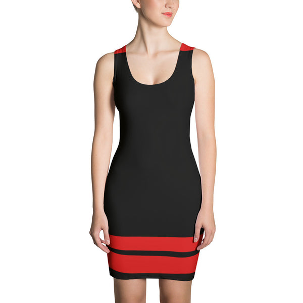 Black w/Red Spandex Dress