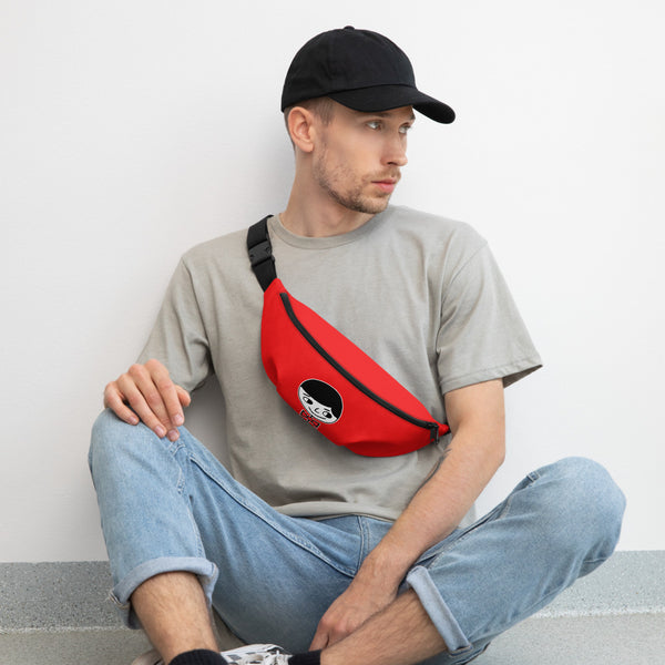 "Luke ""Perfect Gentleman"" Unisex (Men/Women) Red Fanny Pack"