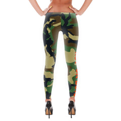 """No F*ck Boys"" Green Camouflage Leggings"