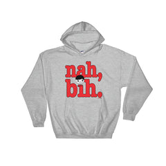 "Luke ""Nah, Bih."" Grey Unisex Hoodie (Men/Women) by Luke&Lynn Clothing #LukeandLynn"