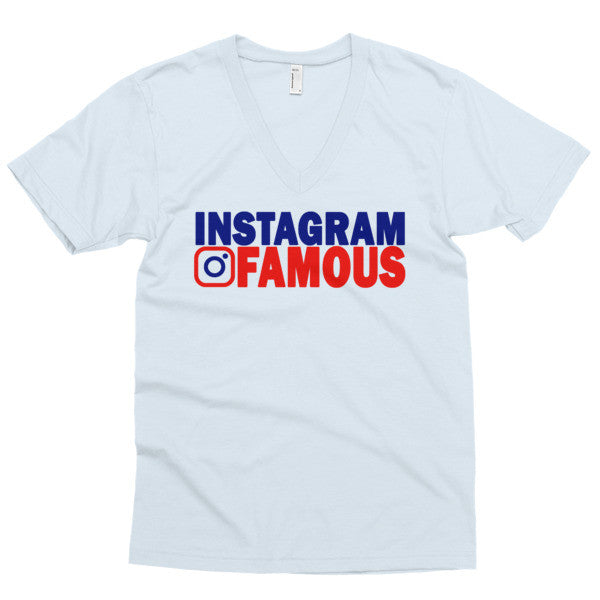 """Instagram Famous"" (Red/Blue) Men's V-neck"