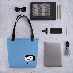 "Lynn ""Beauty-Face"" Blue Tote bag"