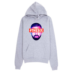 "Drizzy ""The Six"" Unisex (Men/Women) Heather Grey 3/4 Sleeve Baseball Shirt by Luke&Lynn Clothing (Inspired by OVO Drake)"