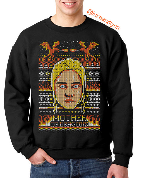 "Khaleesi ""Mother of Dragons"" Ugly Xmas Unisex (Men/Women) Sweater"
