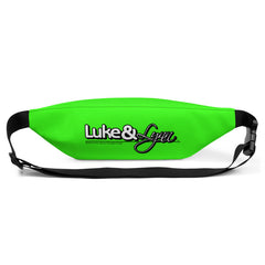 "Lynn ""Beauty-Face"" Unisex (Men/Women) Neon Green Fanny Pack by Luke & Lynn Clothing www.lukeandlynn.com"