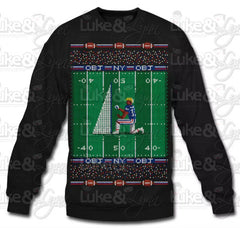 "NY Giants Odell Beckham Jr ""Odell Proposes to Kicking Net Ugly Sweater"" Black Sweatshirt by Luke&Lynn Clothing - tacky christmas sweaters, ugliest christmas sweaters, ugly christmas jumpers, ugly christmas sweater, ugly christmas sweater cheap, ugly christmas sweater for women, ugly christmas sweater party, ugly christmas sweaters for men, ugly christmas sweaters for sale, ugly holiday sweaters, ugly mens christmas sweaters, ugly sweater, ugly sweater party, ugly xmas sweaters, mens christmas jumpers,"